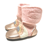 Nooks Design Rainbow Embroidered Wool Booties