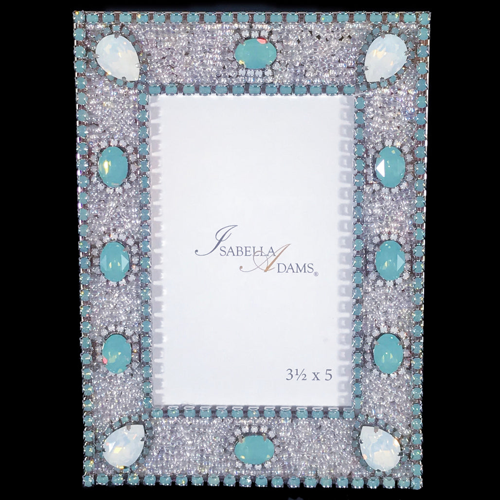 3.5 x 5 Pacific Opal Crystal Picture Frame Featuring Swarovski © Crystals