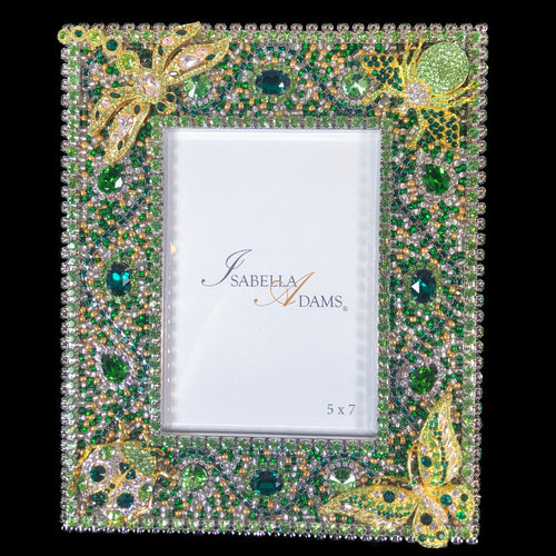 5 x 7 Peridot Bug Picture Frame Featuring Swarovski © Crystals