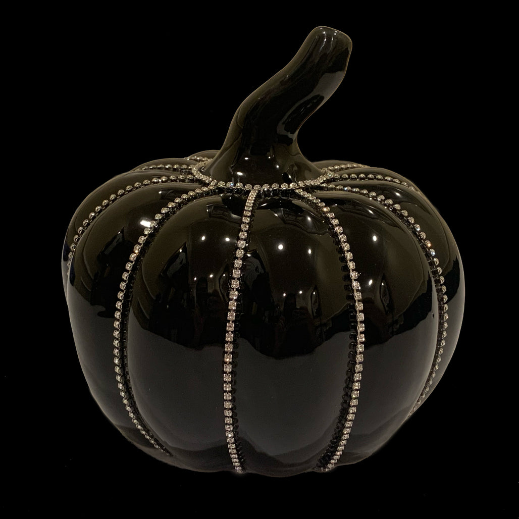Crystallized Black Pumpkin Featuring Swarovski © Crystals
