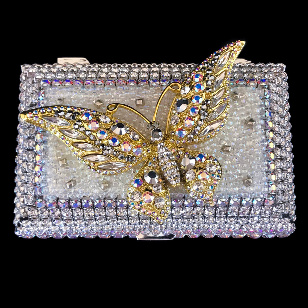 Clear Butterfly Keepsake Box Featuring Swarovski © Crystals