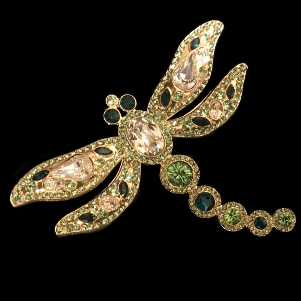 Dragonfly Gold Napkin Rings Featuring Swarovski ® Crystal | Set of 4