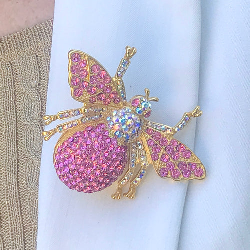 Crystallized Bee Brooch Pin Featuring Swarovski © Crystals