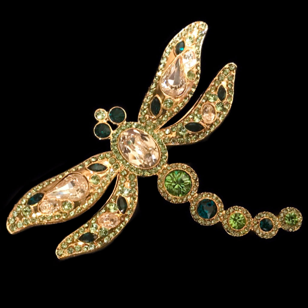 Crystallized Dragonfly Brooch Pin Featuring Swarovski © Crystals