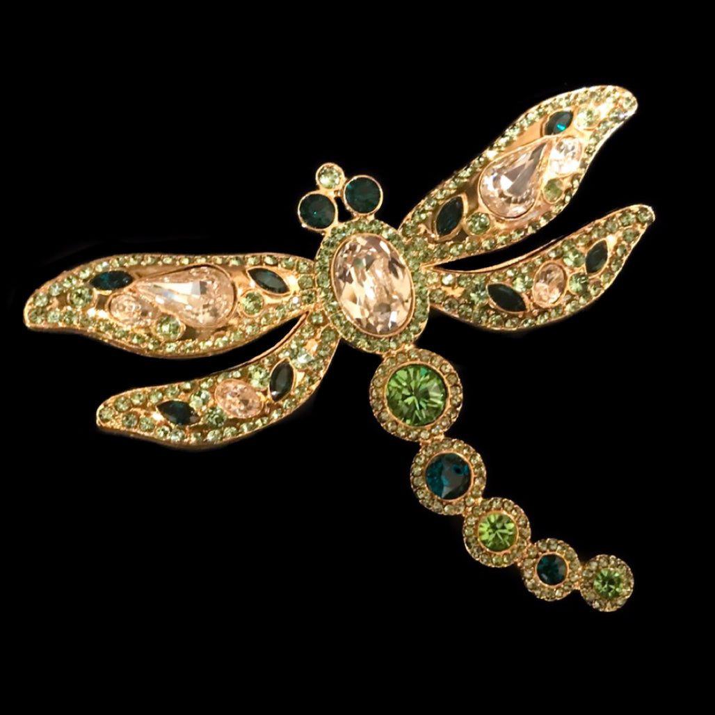 Dragonfly Floral Ornament Featuring Swarovski © Crystals