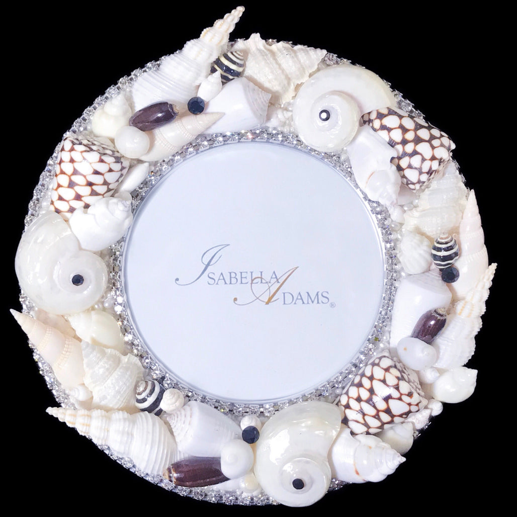 "6"" Round Sea Life Picture Frame"