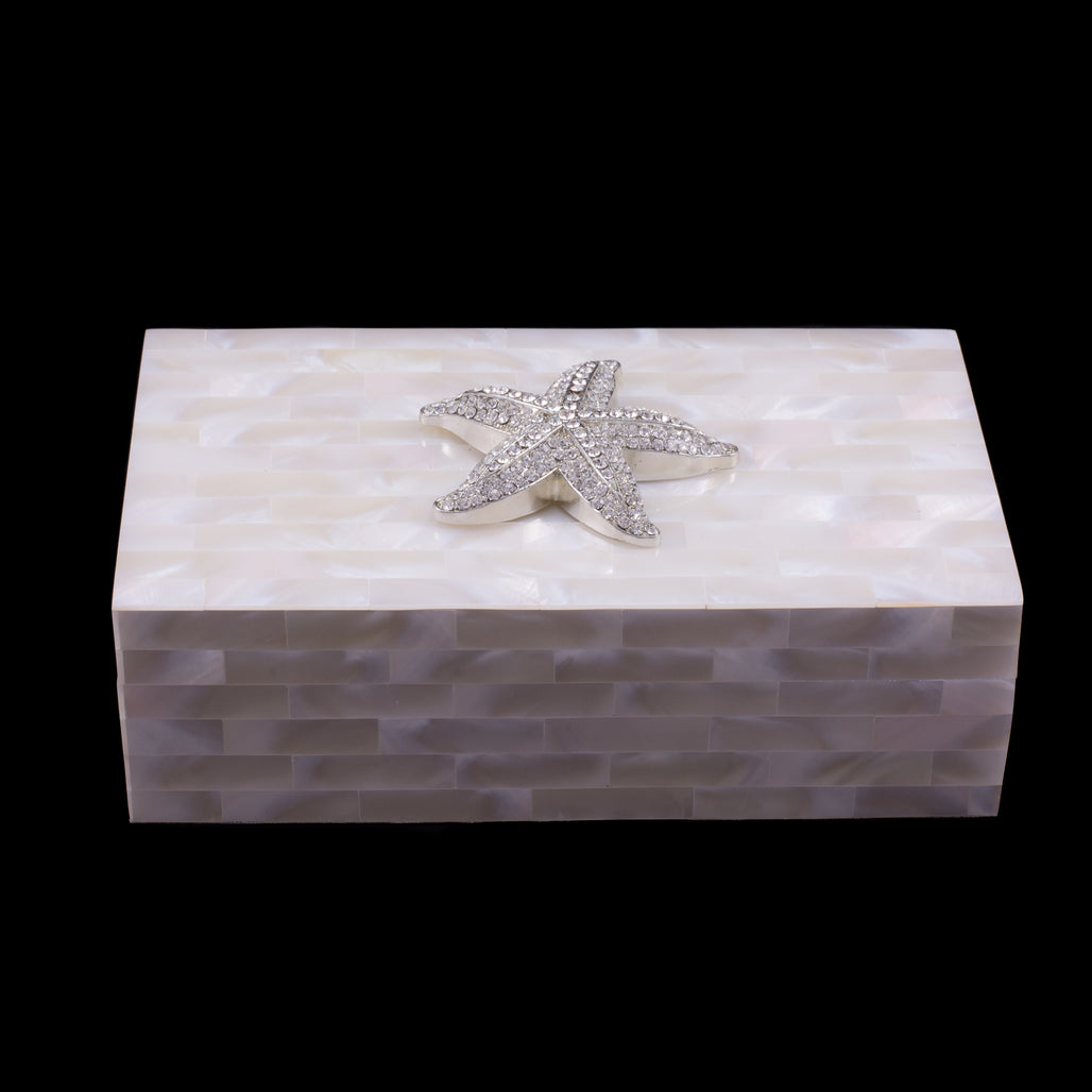 Mother of Pearl Starfish Jewelry Box