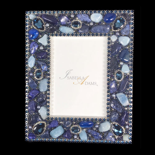 4 x 6 Picture Frame Featuring Montana Blue Swarovski © Crystals and Gemstones