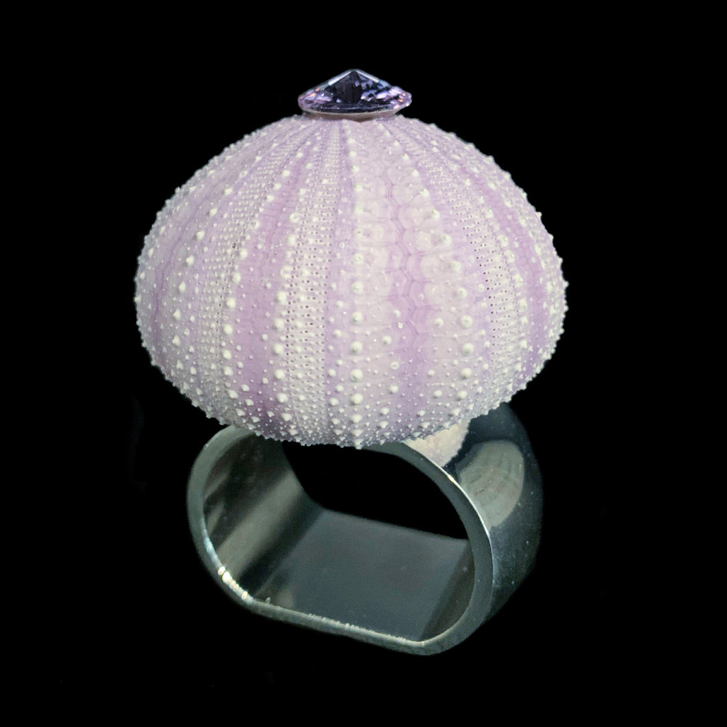 Violet Sea Urchin Napkin Rings Featuring Swarovski © Crystals | Set of 4