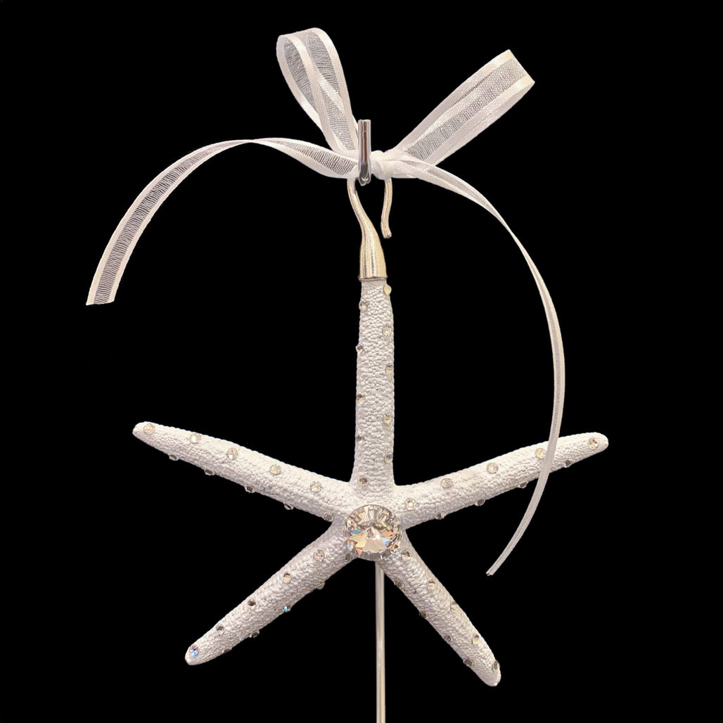 Crystallized Pencil Starfish Christmas Ornament featuring Swarovski © Crystal