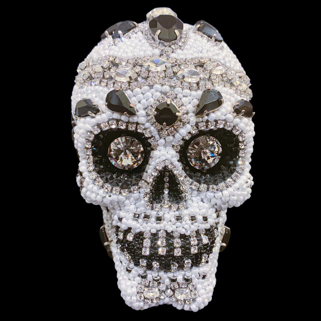 Small Black and White Sugar Skull Featuring Swarovski © Crystals
