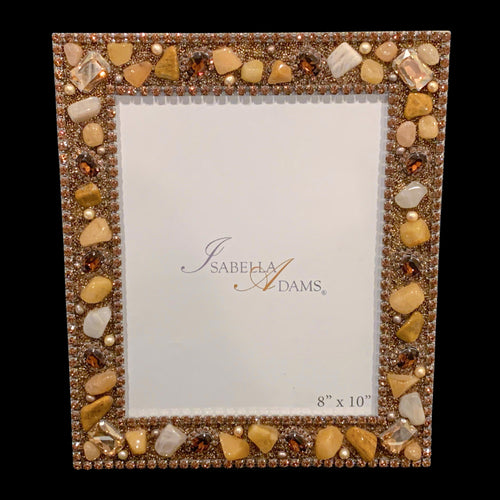 8 x 10 Topaz Mix Gemstone Picture Frame Featuring Swarovski ® Crystal