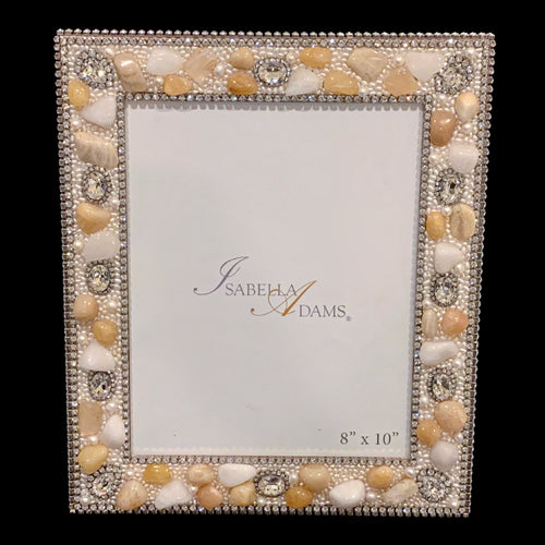 8 x 10 Citrine Quartz Picture Frame Featuring Swarovski ® Crystal