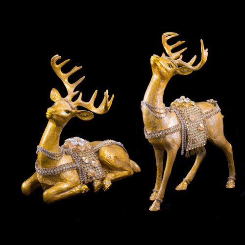 Gold Swarovski © Crystallized Reindeer Set