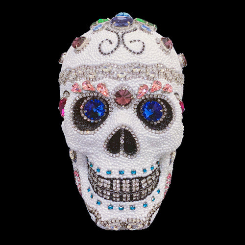 Large Multi-Color Sugar Skull Featuring Swarovski ® Crystals
