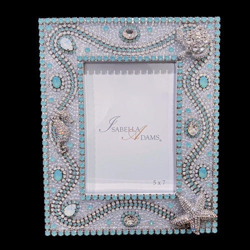 5 x 7 Opal Sea Life Picture Frame featuring Pacific & White Opal Swarovski ® Crystal