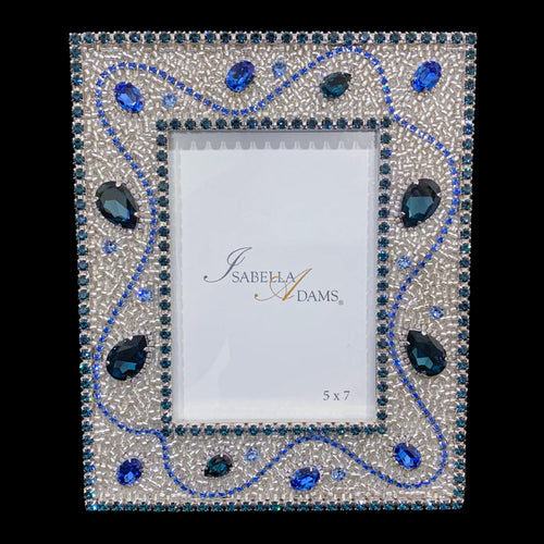 5 x 7 Montana Blue Crystallized Picture Frame Featuring Swarovski ® Crystal