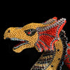 Red Alpha Dragon Featuring Jet, Siam & Topaz Gold Swarovski ® Crystal | Large
