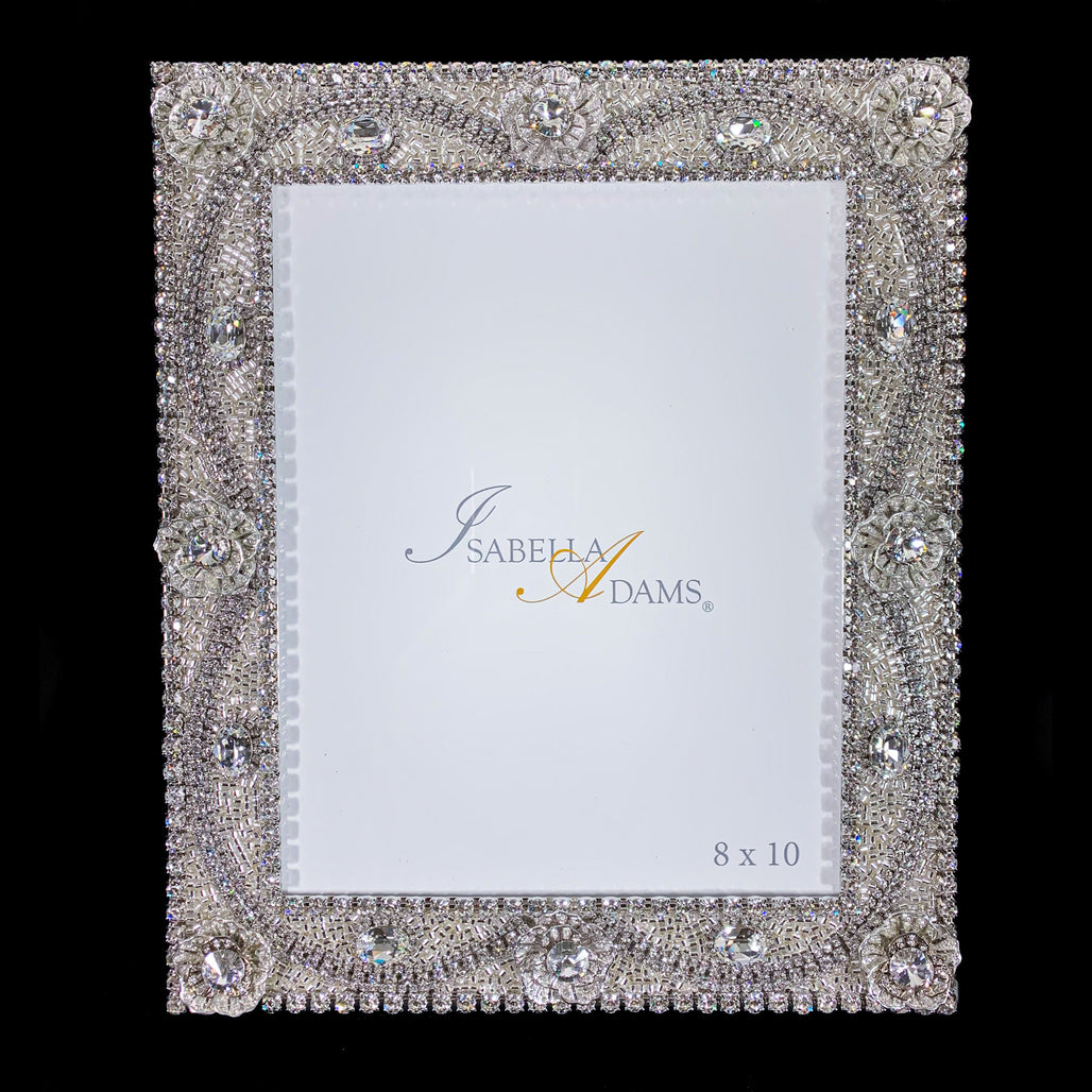 8 x 10 Classic Crystal Picture Frame Featuring Clear Swarovski © Crystal