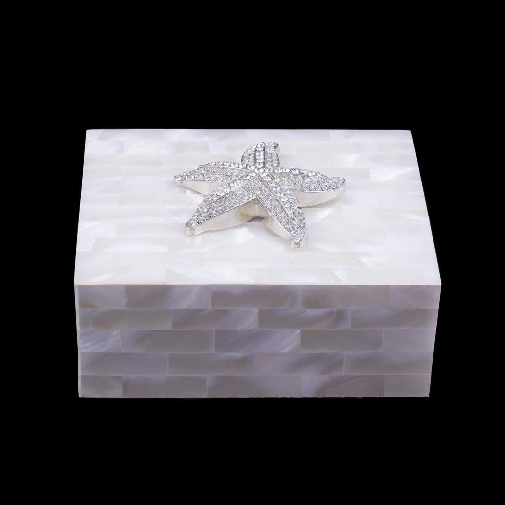 Mother of Pearl Starfish Keepsake Box Featuring Swarovski © Crystal