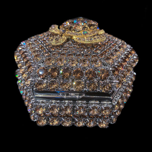 Topaz Turtle Hexagon Box Featuring Swarovski © Crystals