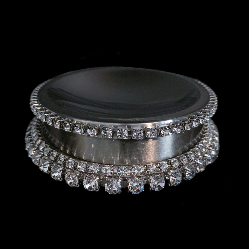 Soap Dish / Oval Featuring Swarovski © Crystal