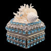 Aquamarine Hexagon Box Featuring Swarovski © Crystals and Natural Seashells