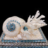 Aquamarine Shell Cluster Ring Box Featuring Swarovski © Crystal