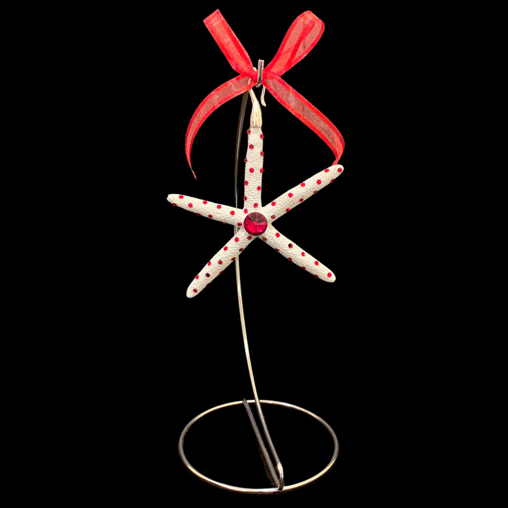 Crystallized Pencil Starfish Christmas Ornament featuring Siam Swarovski © Crystal