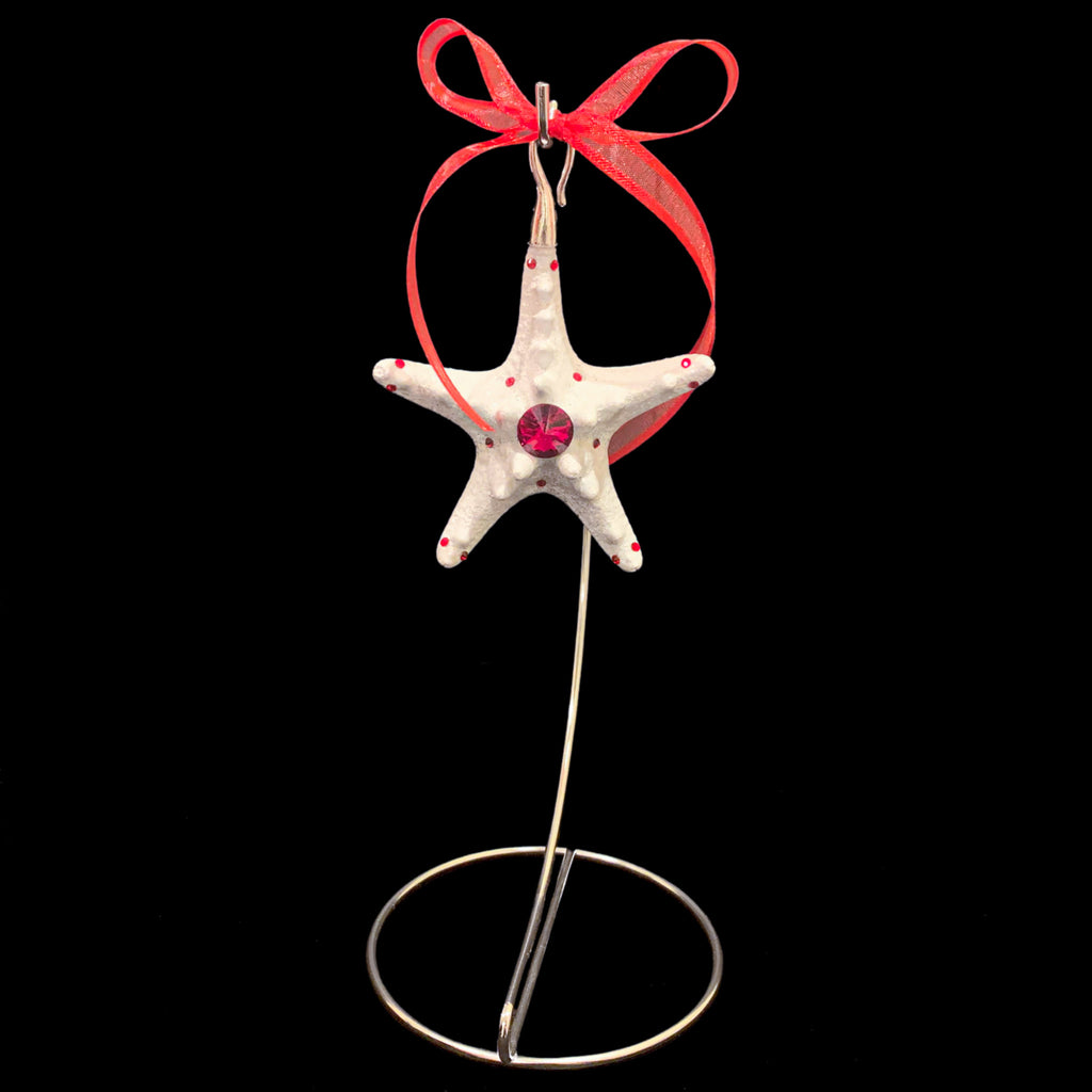 Crystallized Knobby Starfish Christmas Ornament featuring Siam Swarovski © Crystal