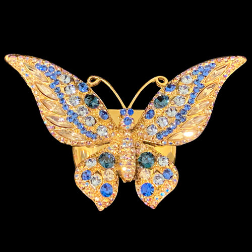 Butterfly Gold Napkin Rings Featuring Swarovski © Crystal | Set of 4