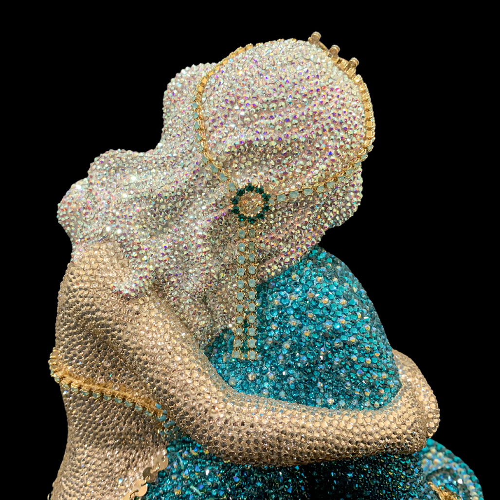 Mermaid Sculpture Featuring Swarovski © Crystals
