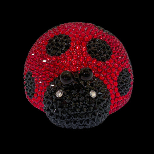 Lady Bug Paperweight Collectible Featuring Swarovski ® Crystals