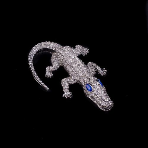 Kid Gator Paperweight Collectible Featuring Swarovski © Crystals / Sapphire Eyes