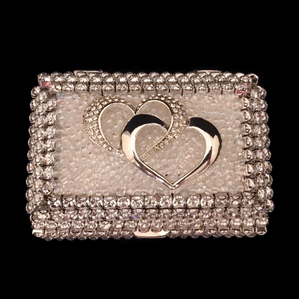 Locking Hearts Crystallized Ring Box Featuring Clear Swarovski © Crystal