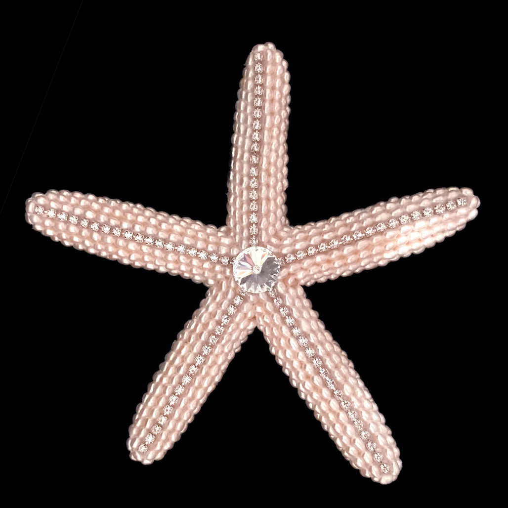 Natural Starfish with Freshwater Pearls and Swarovski ® Crystals