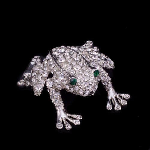 Rivet the Frog Paperweight Collectible Featuring Swarovski ® Crystals | Emerald Eyes