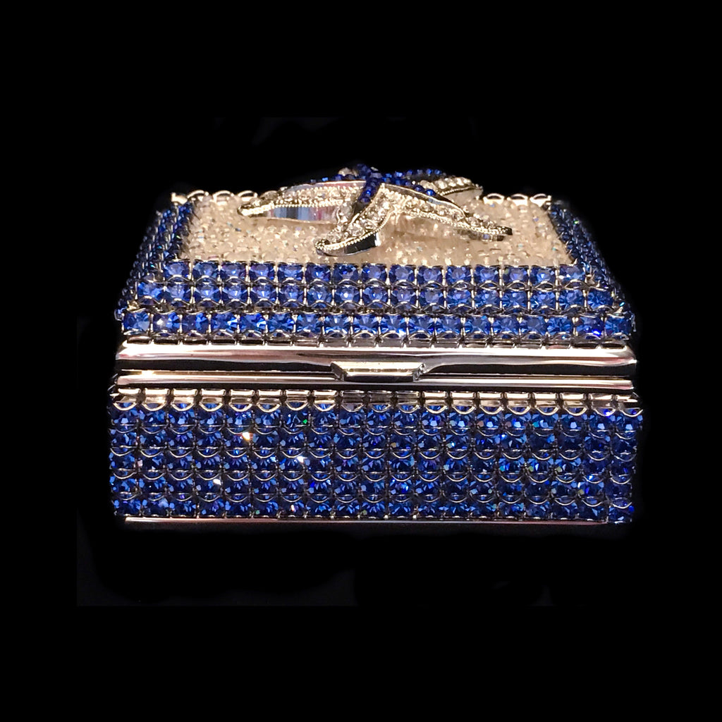 Sapphire Starfish Ring Box Featuring Swarovski © Crystals