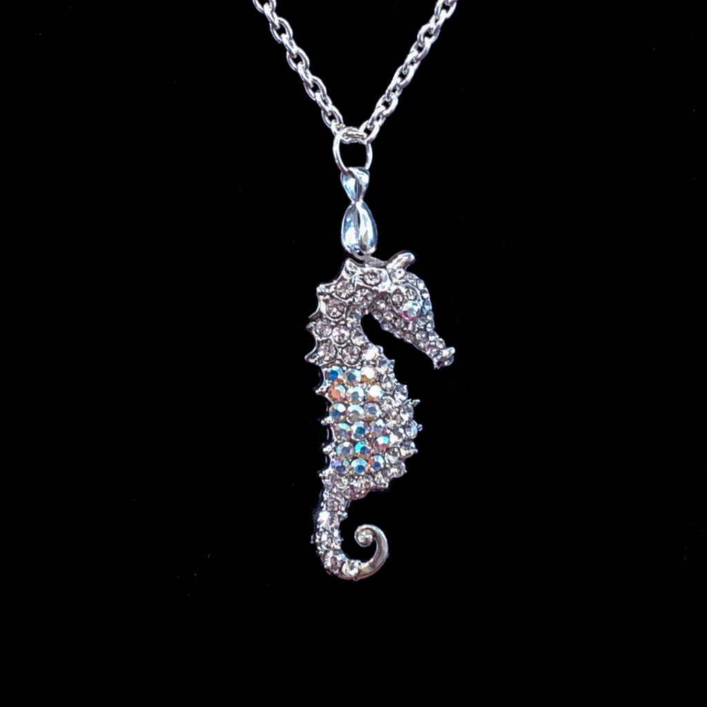 Sea Horse Necklace Featuring Swarovski © Crystal