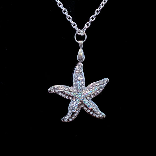 Starfish Necklace Featuring Swarovski ® Crystals