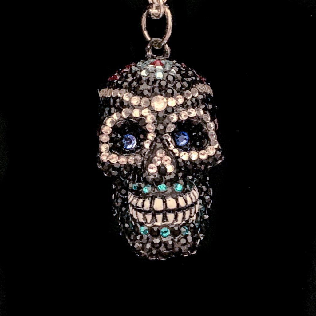 Sugar Skull Necklace Featuring Swarovski © Crystals