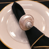 Pearl Turbo Shell Napkin Ring Featuring Swarovski ® Crystal | Set of 4