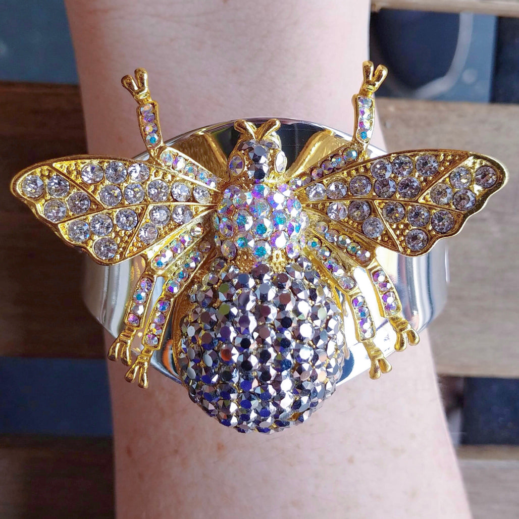 Crystallized Bee Cuff Bracelets Featuring Swarovski © Crystals