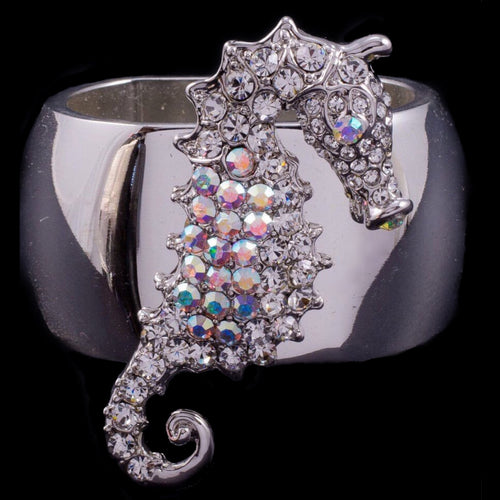 Sea Horse Napkin Ring Featuring Swarovski © Crystal | Set of 4