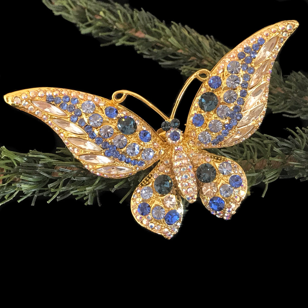 Butterfly Christmas Ornament Featuring Swarovski © Crystals