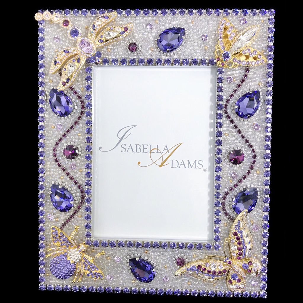 5 x 7 Violet Crystallized Bug Picture Frame Featuring Swarovski ® Crystal