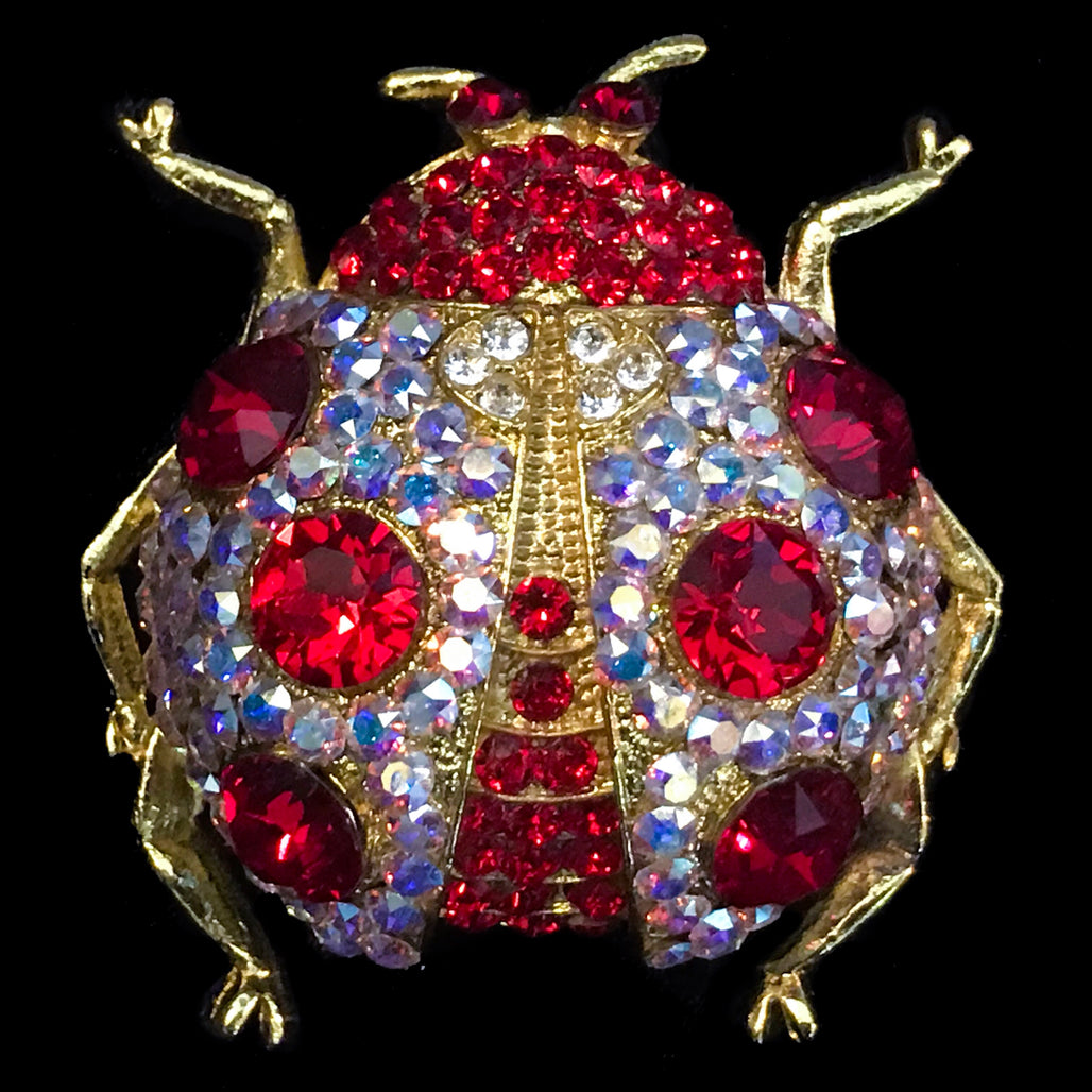 Lady Bug Christmas Ornament Featuring Swarovski © Crystals