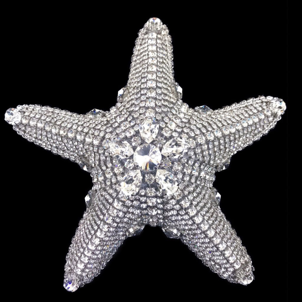Crystallized Large Natural Starfish Featuring Clear Swarovski © Crystals