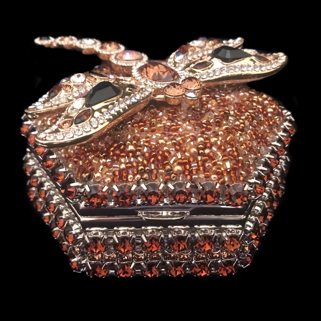 Topaz Dragonfly Hexagon Ring Box Featuring Swarovski © Crystal