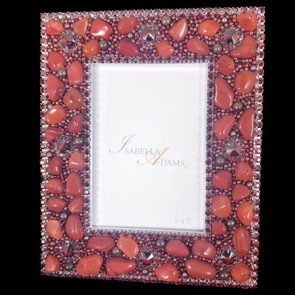 5 X 7 Picture Frame Featuring Red Magma Swarovski Crystals And